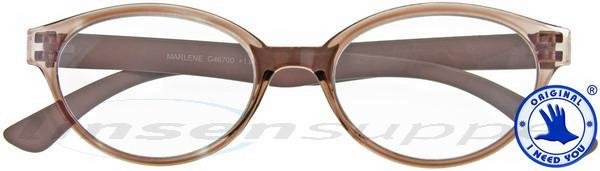 Marlene Retro-Kunststoffbrille braun | I NEED YOU ...