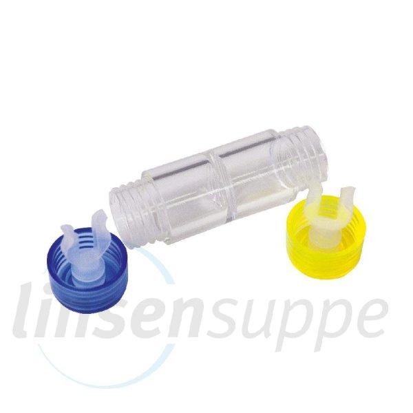 Hartlinsenbehälter Blau-Gelb